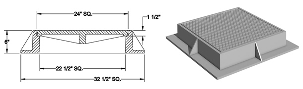 1440 Manhole Frame and Solid Cover