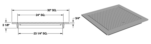 1450 Manhole Frame and Solid Cover