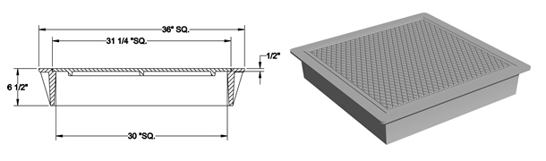 1470 Manhole Frame and Solid Cover