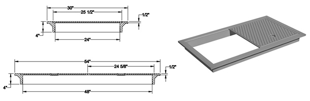 1475 Manhole Frame and Solid Cover